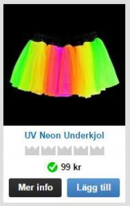 neonfärgade underkjolar