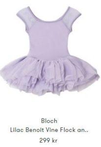 Blå ballerinadräkt för småbarn