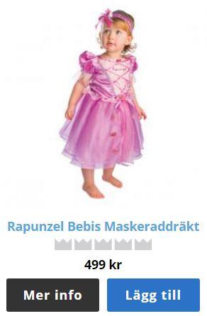 rapunzel klänning baby