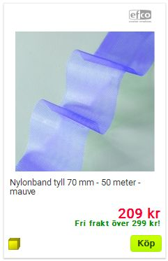 nylonband tyll 50 meter mauve