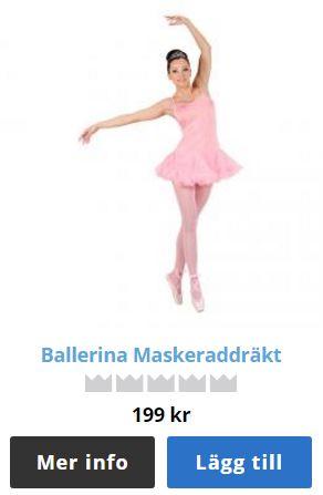 Ballerinadräkt rosa